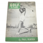 Paul Runyan Signed 1930s Golf is a Game Magazine JSA ALOA