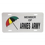 Member of Arnies Army Silver License Plate with Bay Hill Umbrella Logo