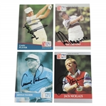 Arnold Palmer, Jack Nicklaus, Gary Player, & Lee Trevino Signed Pro-Set Golf Cards JSA ALOA