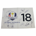 2018 Ryder Cup Flag at Le Golf National Flag Signed by European Team FULL JSA #BB22136
