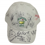 Masters Champs (15) Multi-Signed 2011 Masters Khaki Caddy Hat JSA ALOA
