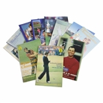 Twelve (12) OPEN Championship Official Programs - 1981, 1982, 1985, 1986, 1990-92, 1998-2002