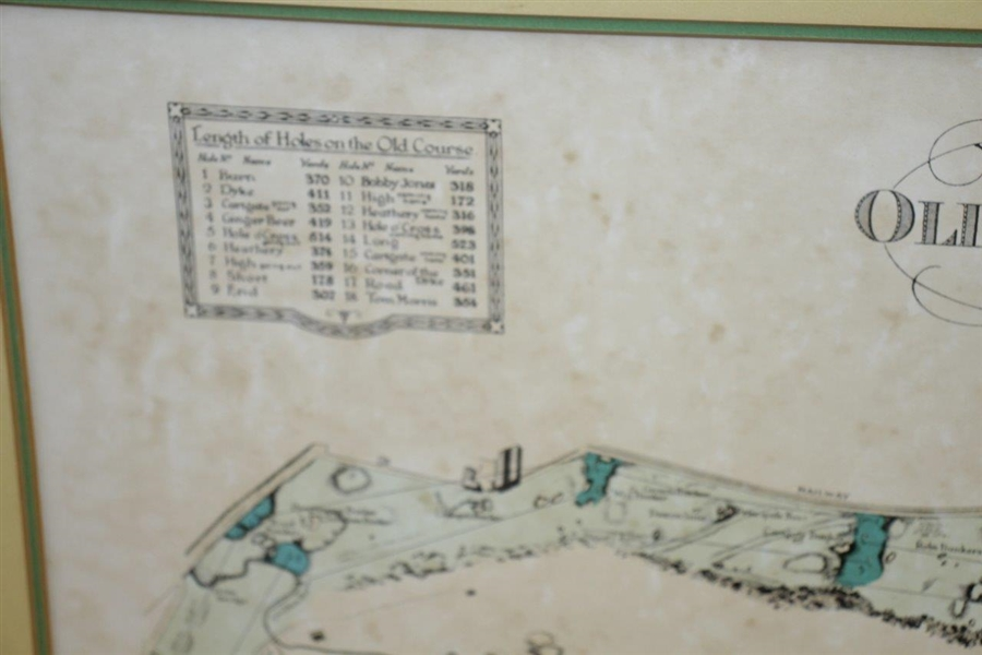The Old Course at St. Andrews Map Surveyed & Depicted By Alister MacKenzie Print - Matted