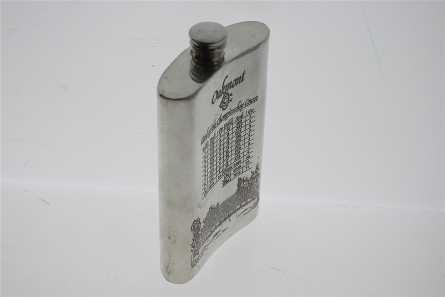 Oakmont Country Club Sheffield England Pewter Flask
