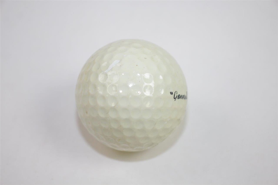 Vintage Dwight D. Eisenhower General Ike Logo Golf Ball