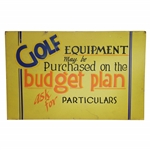 Golf Equipment May Be Purchased on the Budget Plan - Ask for Particulars Broadside
