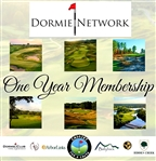 One Year Dormie Network Membership - 6 Courses - $16k Value - Caddies For A Cause