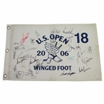 Palmer, McIlroy, & 21 other US Open Champs Signed 2006 at Winged Foot Flag FULL JSA #Z09264