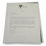 Ken Venturis Personal Invitation to the 2011 Presidents Cup as Official Observer Committee