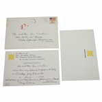 Ken Venturis Personal Invitation to Engagement Party from Barbara & Frank Sinatra