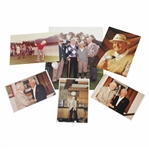 Ken Venturis Personal Six Photos with Byron Nelson & others - One Signed JSA ALOA