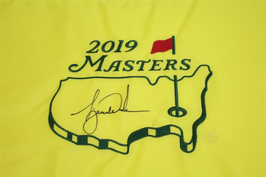 Tiger Woods Signed 2019 Masters Embroidered Flag JSA ALOA