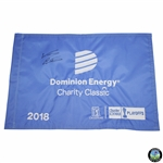 Woody Austin Signed 2018 Dominion Energy Charity Classic Embroidered Flag JSA ALOA
