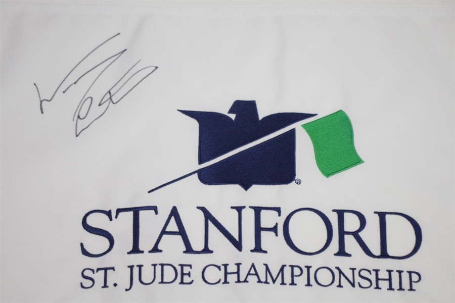 Woody Austin Signed Stanford St. Jude Championship Embroidered Flag JSA ALOA