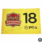 Bernhard Langer Signed 2017 KitchenAid Senior PGA Championship Screen Flag JSA ALOA