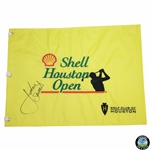 Jordan Spieth Signed Shell Houston Open Embroidered Yellow Flag JSA ALOA