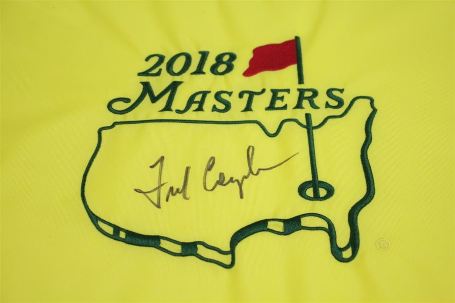 Fred Couples Signed 2018 Masters Embroidered Flag - Full Sig! JSA ALOA