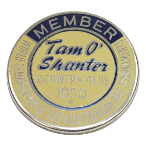 1950 Tam O'Shanter World Championship All-American Tournament Member Badge