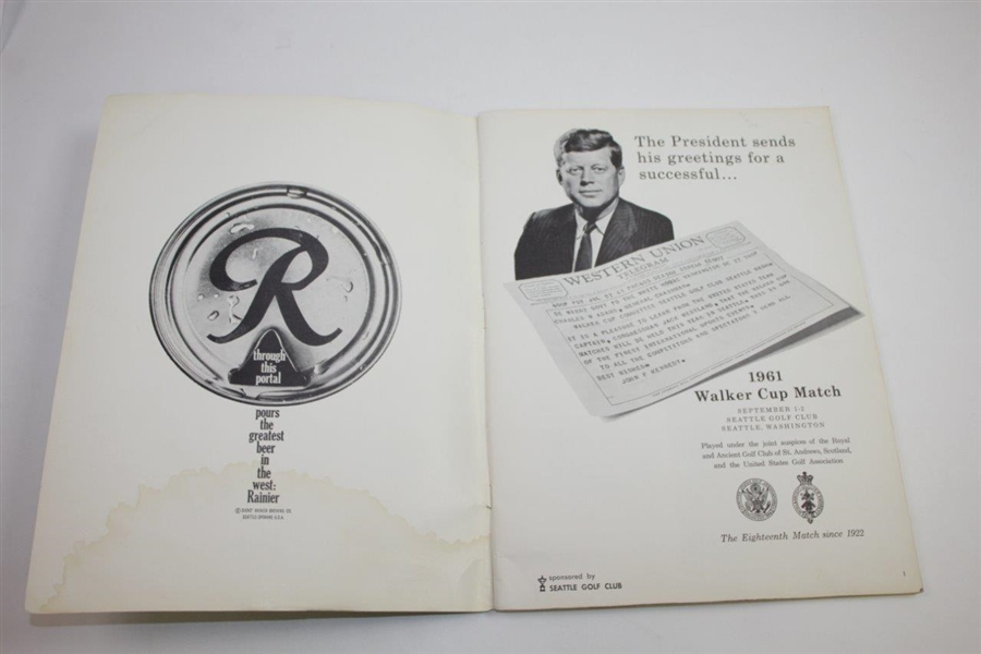 1961 The Walker Cup at The Seattle Golf Club Official Program