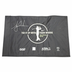 Tiger Woods Signed Tee it up with Tiger Woods Black Flag - 2006 Retailer Outing JSA ALOA