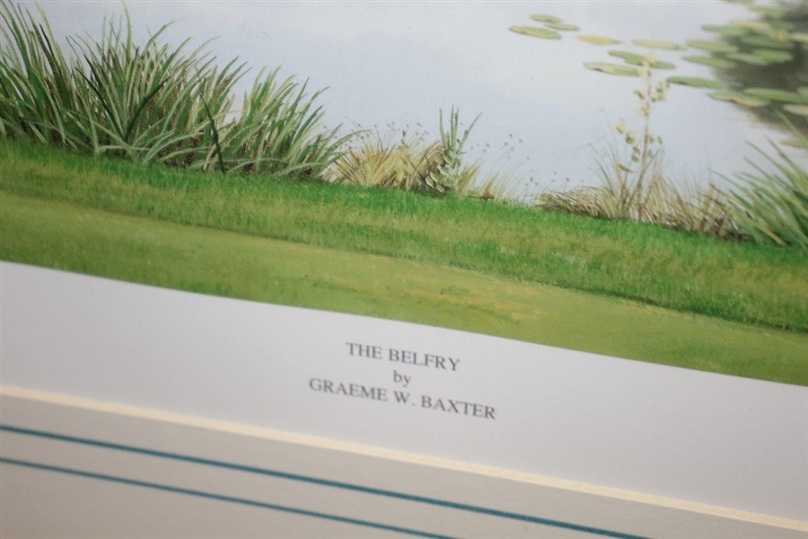 The Belfry Print Signed by Artist Graeme Baxter - Framed