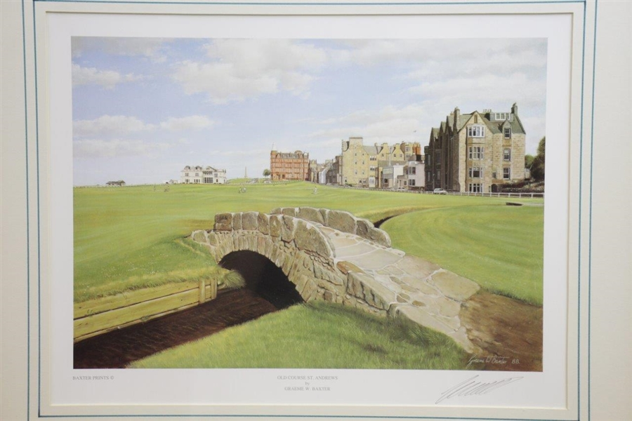 Old Course St. Andrews Print Signed by Artist Graeme Baxter - Framed