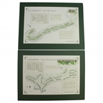 St. Andrews - The Old Course & Turnberry - The Ailsa Course Alba Cartographics Matted Prints