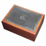 1999 Ryder Cup at Brookline Stuart Kern Wood with Leather Ltd Humidor - Excellent Condition