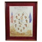 1999 Ryder Cup at Brookline United States Team Poster Signed by Captain Ben Crenshaw JSA ALOA