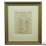 1941 Hagens PGA Ryder Team vs Bobby Jones Challenge Team at Detroit GC Signed Pairings Sheet JSA FULL #BB45770