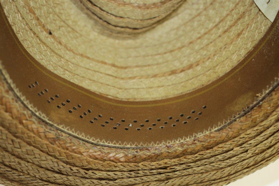 Sam Snead Personal Custom Stetson Straw Hat - Size 7 1/8
