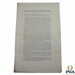 1893 Royal & Ancient Golf Club of St. Andrews Report of Special Committee to Propose Purchase of Links