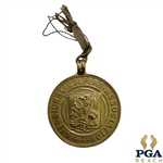 1933 Ryder Cup Match PGA 9k Gold Medal Awarded To Leo Diegel - Awarded By Prince of Wales