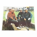 Arnold Palmer, Jack Nicklaus, Tom Watson, & Ray Floyd on the Swilcan Bridge Color Photo