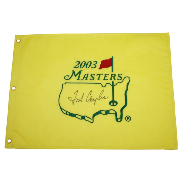 Fred Couples Signed Full Signature 2003 Masters Embroidered Flag JSA ALOA