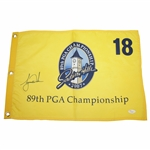 Tiger Woods Signed 2007 PGA Championship at Southern Hills Screen Flag JSA FULL #Z70885