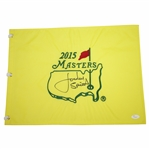 Jordan Spieth Signed Full Signature 2015 Masters Embroidered Flag JSA FULL #Z50685