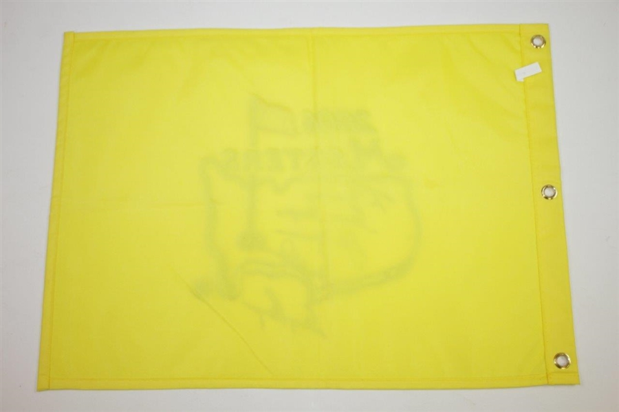 'Big Three' Palmer, Nicklaus, & Player Signed 2006 Masters Embroidered Flag with Personalization JSA ALOA
