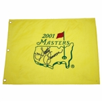 Scotty Cameron Signed 2001 Masters Embroidered Flag JSA ALOA