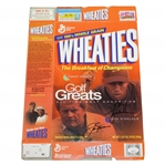 Tiger Woods & Jack Nicklaus Signed Wheaties Golf Greats All-Time Champions Box JSA FULL #BB50309