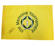 Hideki Matsuyama Signed Undated Memorial Tournament Embroidered Flag JSA ALOA