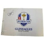 Rory McIlroy Signed 2014 Ryder Cup at Gleneagles Embroidered Flag PSA/DNA #AE00472