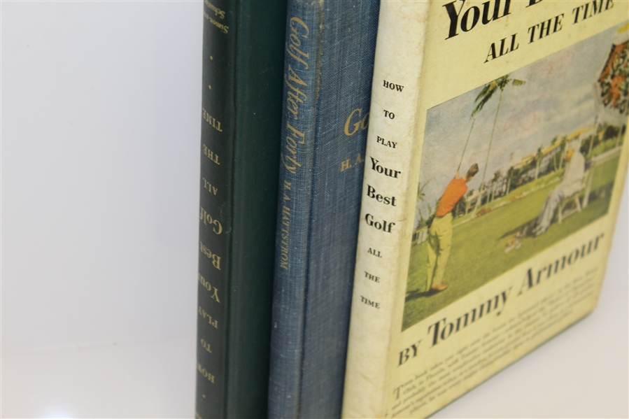 Two Tommy Armour 'Your Best Golf All the Time' Books & 'Golf After Forty' Book