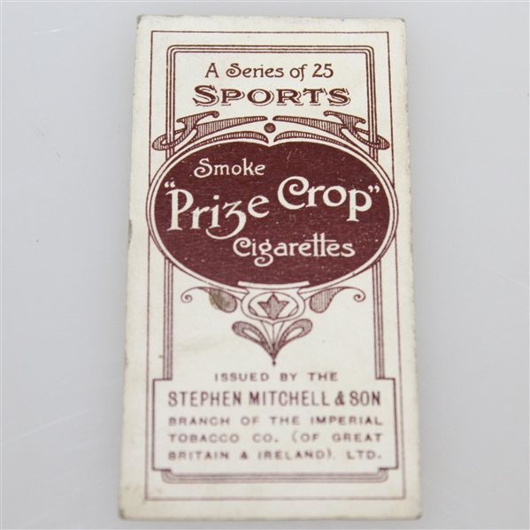 Vintage Mitchell's Cigarettes Golf Card - Smoke 'Prize Crop' Cigarettes