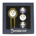 Ryder Cup Divot Repair Tool w/ Magnetic Ball Marker - Four Interchangeable Ball Markers