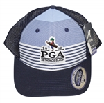 2019 PGA Bethpage Black Striped Performance Mesh Hat w/ Tags - Koepka Win