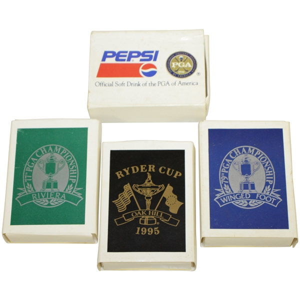 1995 Ryder Cup, PGA Championship (77th & 79th), & Pepsi Comm. Tees - Crist Collection