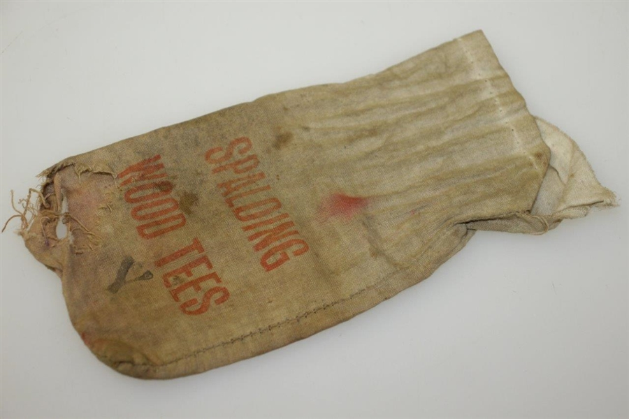 Vintage Spalding Wood Tees Canvas Golf Tee Bag - Crist Collection