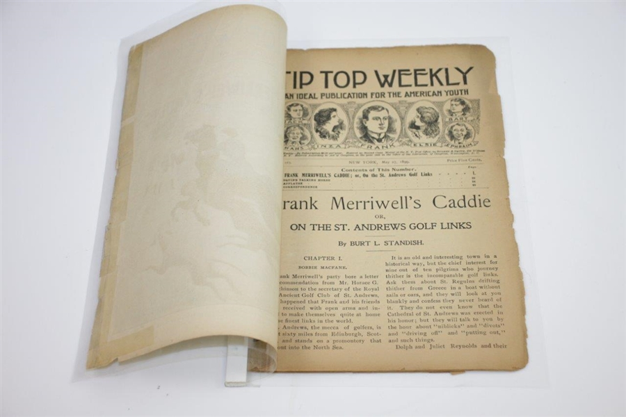 1899 Tip Top Weekly Frank Merriwell's Caddie on St. Andrews Golf Links Publication No. 163