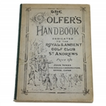 1881 The Golfers Handbook Dedicated to The Royal & Ancient Club St. Andrews by Robert Forgan